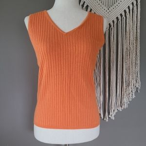 White Stag | Ribbed Tangerine Sweater Tank M